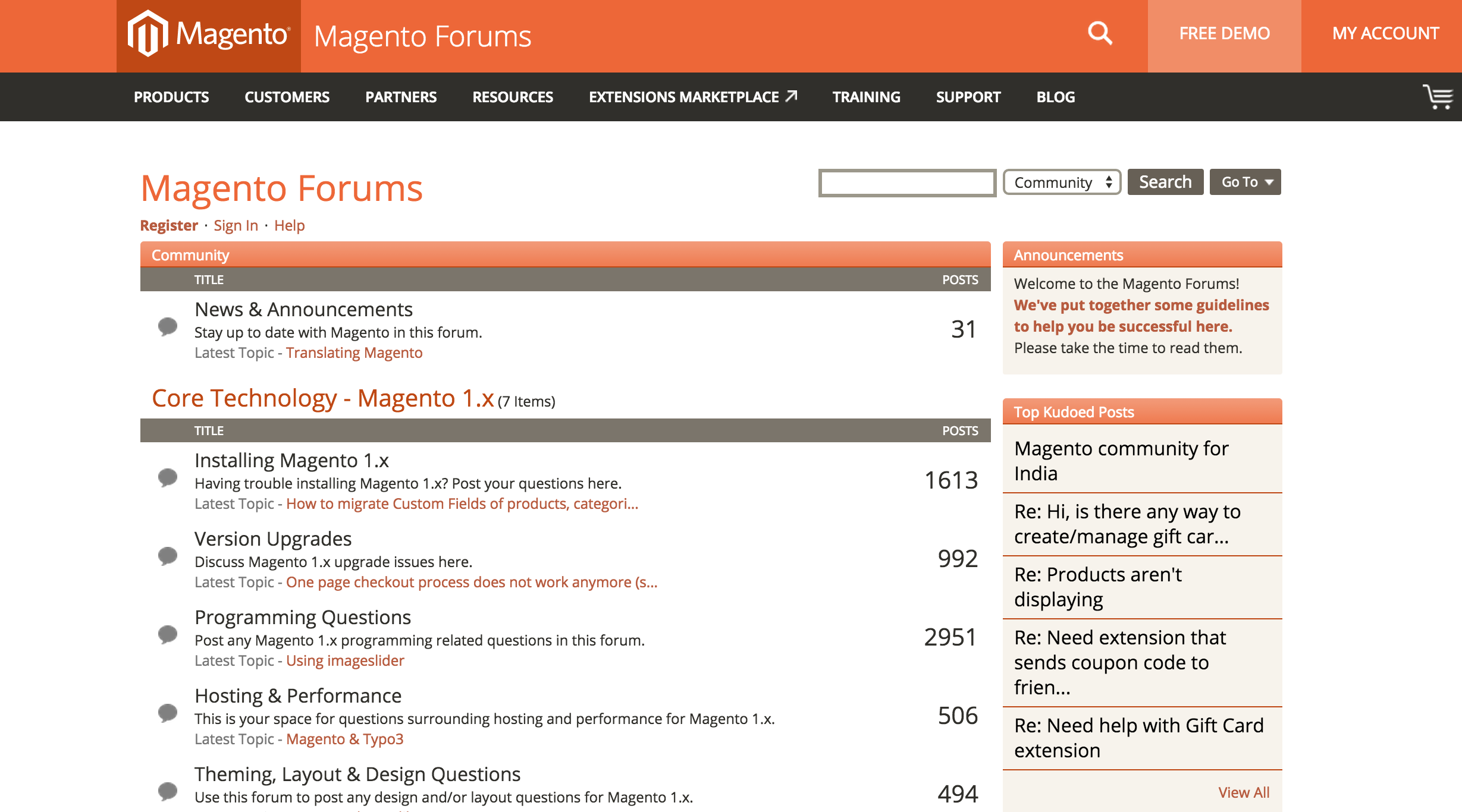 Official Magento Forums